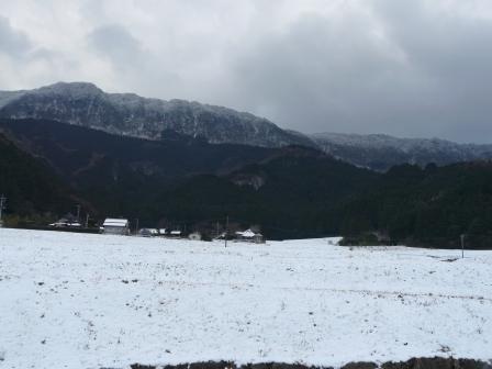 東温市上林 雪景色 2