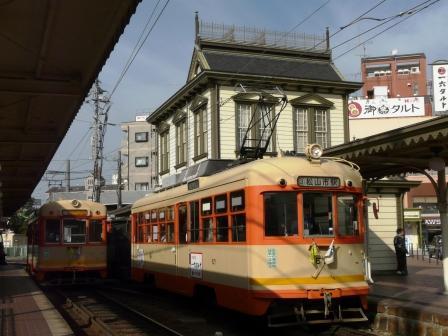 道後温泉駅 市内電車 (路面電車)