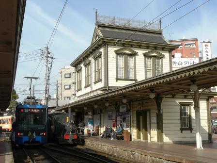 道後温泉駅 坊っちゃん列車 & イルミネーション電車 1