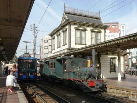 道後温泉駅 坊っちゃん列車 & イルミネーション電車 3