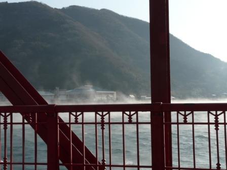 肱川あらし 長浜大橋から 1