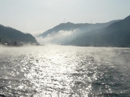 肱川あらし 長浜大橋から 4