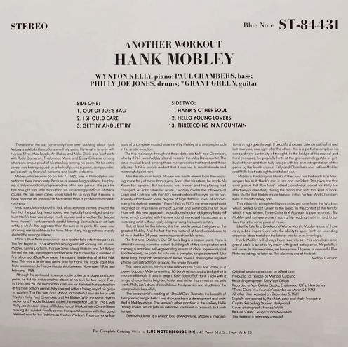 Hank Mobley Another Workout Liner