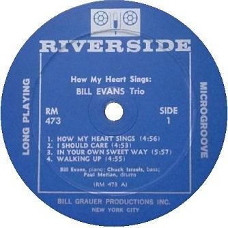 Bill Evans How My Heart Sings RM 473