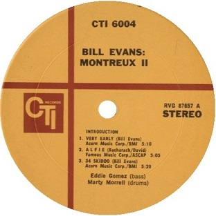 Bill Evans Montreux Ⅱ yellow label