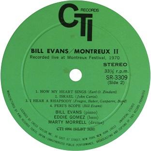 Bill Evans Montreux Ⅱ King label