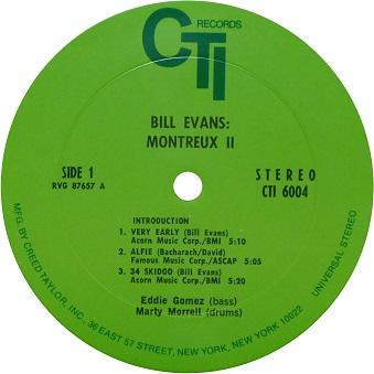 Bill Evans Montreux Ⅱ green label