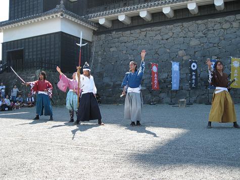 熊本旅行:熊本城 おもてなし武将隊