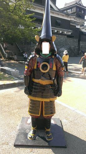 熊本旅行:加藤清正 顔パネル