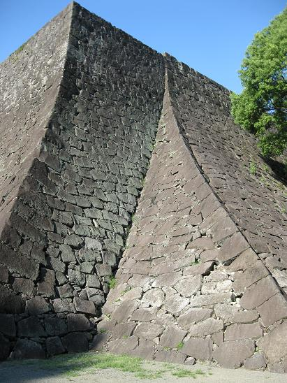 熊本旅行:熊本城 二様の石垣