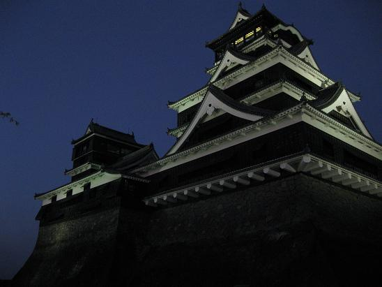 熊本旅行:熊本城 ライトアップ