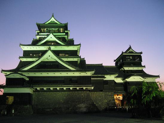 熊本旅行:熊本城 ライトアップ②