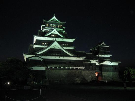 熊本旅行:熊本城 ライトアップ③