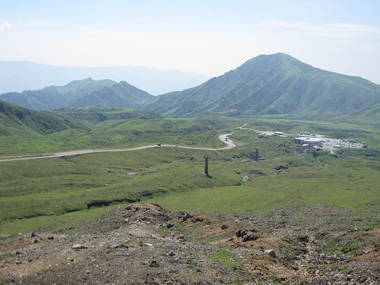 熊本旅行:阿蘇山火口観光 展望所 眺望