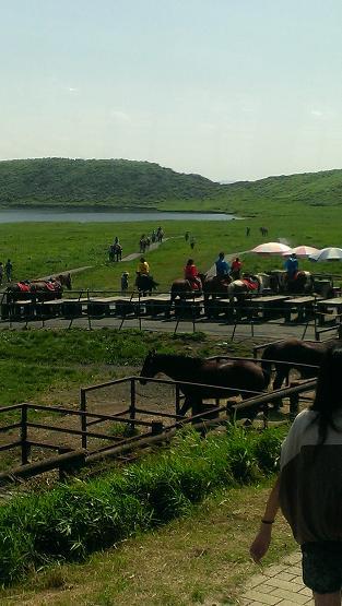 熊本旅行:阿蘇山火口観光 乗馬