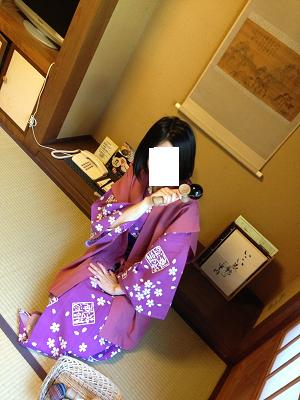 熊本旅行:黒川温泉 いこい旅館 浴衣 けん玉