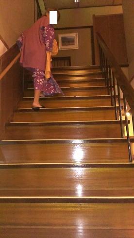 熊本旅行:黒川温泉 いこい旅館 階段