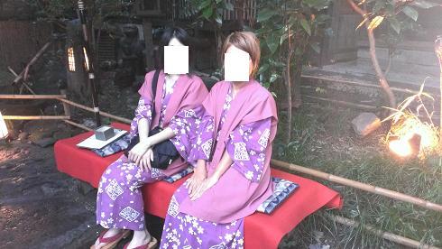 熊本旅行:黒川温泉 いこい旅館 浴衣 玄関