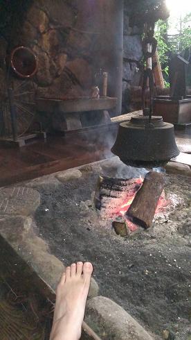 熊本旅行:黒川温泉 いこい旅館 囲炉裏2