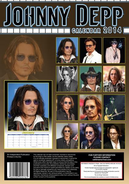 MegaCalendars-Dream-2014-12-month-wall-calendar-Johnny-Depp-5060085404761-Back-Cover.jpg