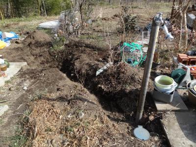 立水洗穴掘り