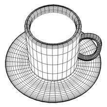 3DCGカフェラテワイヤーフレーム