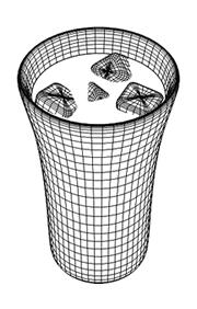 3DCGアイスコーヒーワイヤーフレーム