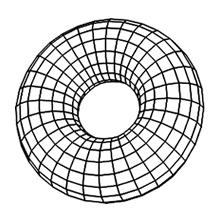3DCGドーナツ1ワイヤーフレーム