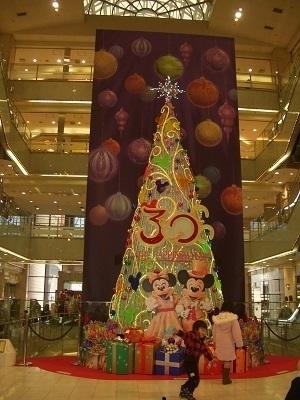 大和百貨店のクリスマスツリー