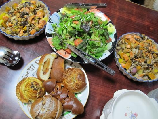 北海道と長野のコラボ晩ご飯