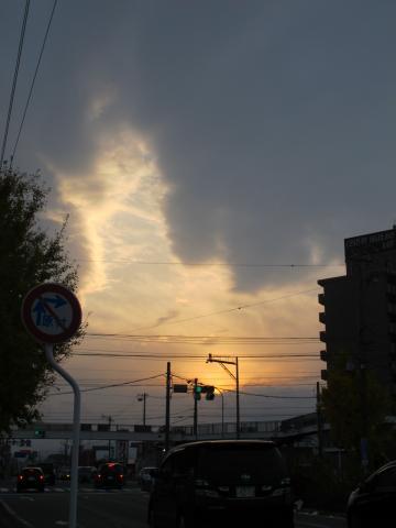 三重県松坂市 夕陽