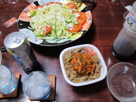すきやの牛丼晩ご飯