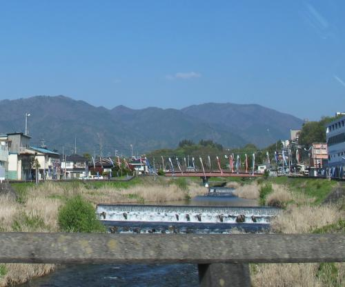 長野県飯田辺り こいのぼり