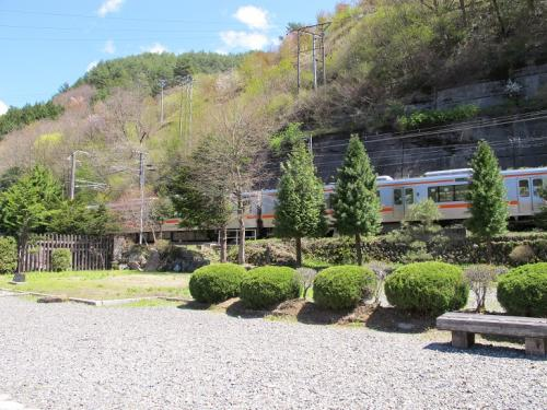 福島関所と中央本線