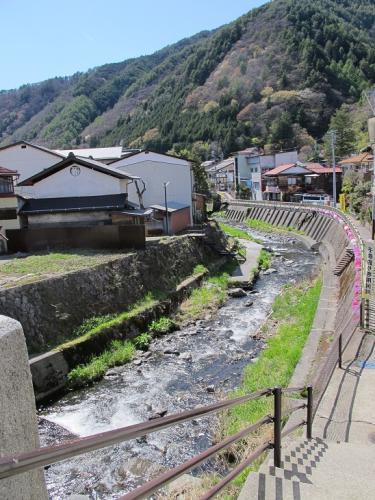 中山道 福島宿 八沢川