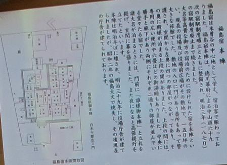 中山道 福島宿 本陣跡