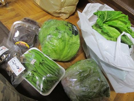 道の駅『朝霧高原』で買った野菜