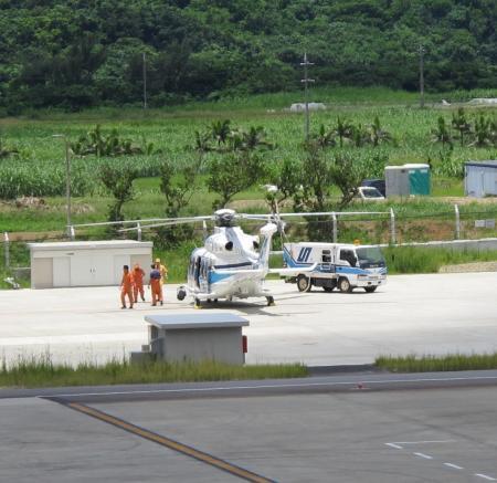 南ぬ島 石垣空港 ヘリコプター