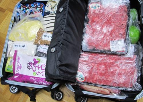 スーツケースの中身