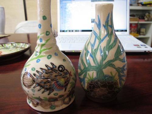 アバサーの呼び鈴とお魚の花瓶