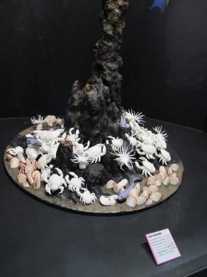 熱水鉱床チムニー模型