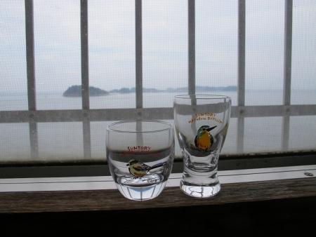 頂いたグラス