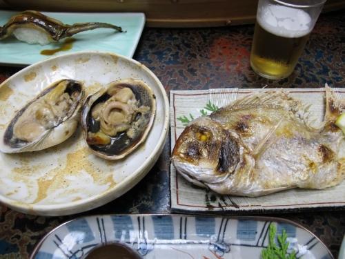 鯛の塩焼き 焼き沖アサリ
