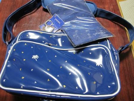 ヤシの木SG柄のスポーツバッグ