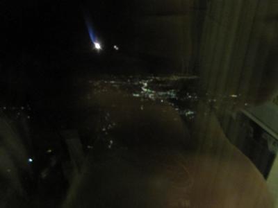 PM5時45分の飛行機から見えた景色