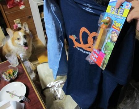 長い犬のTシャツとペッツとシャツ