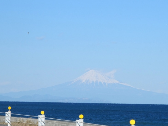 御前崎からの富士山