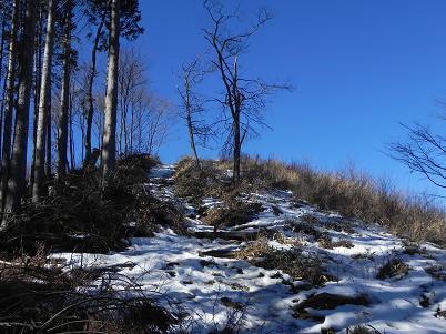 棒の峰山頂の残雪