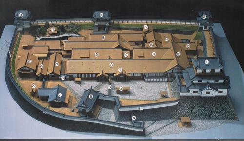 白石城本丸模型