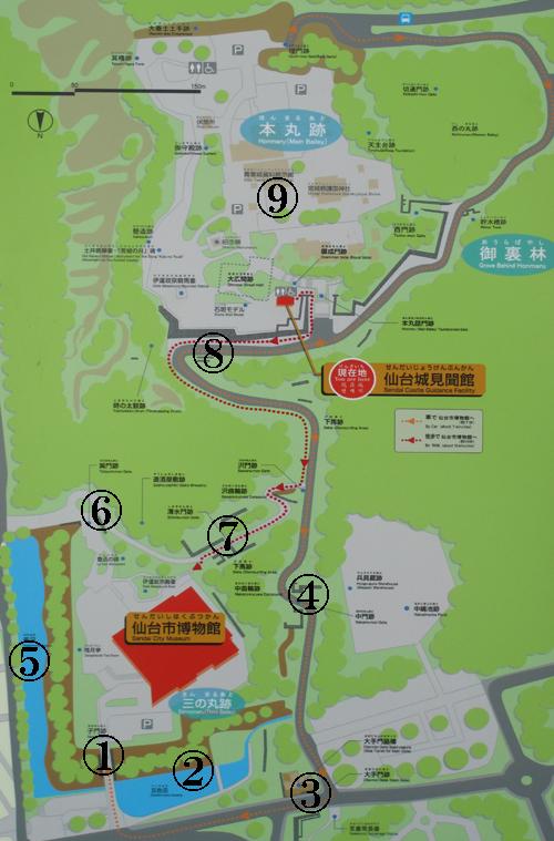 仙台城地図